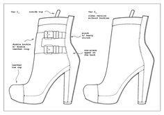 dibujo tecnico de zapatos - Google Search