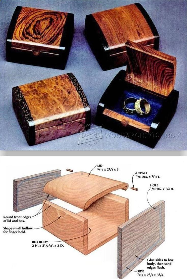 Bandsaw Wedding Ring Box Plans - Woodworking Plans and Projects | WoodArchivist.com