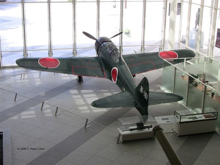 A6M Zero Model 52 fighter on display at the Yushukan Museum, Tokyo, Japan