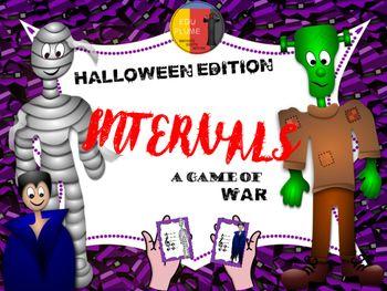 HALLOWEEN MUSIC INTERVALS - A very spooky game of war