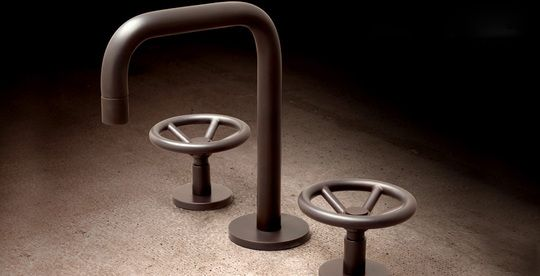 Industrial Chic Brass Faucets by Watermark Designs    A real treat for modern urban dwellers, these industrial-chic faucets by Brooklyn-based Watermark Designs are what you've been waiting for. If you're creating unique urban interiors then these faucets are a perfect catch. Definitely, one of the most interesting industrial...