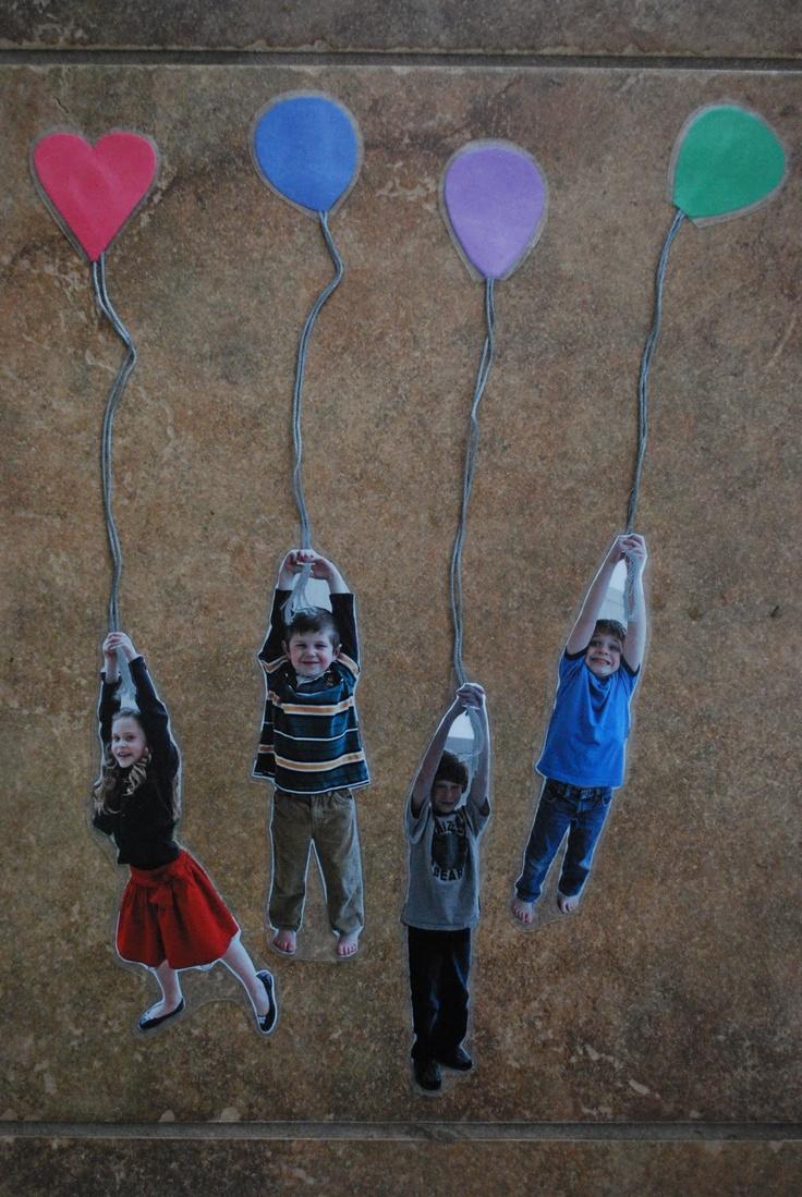 Cute hot air balloon bookmarks. Kids will LOVE!