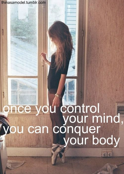 "Control your mind in a way that you are able to say ""NO"" to unhealthy foods and exercise daily to maintain a healthy lifestyle and conquer your body."