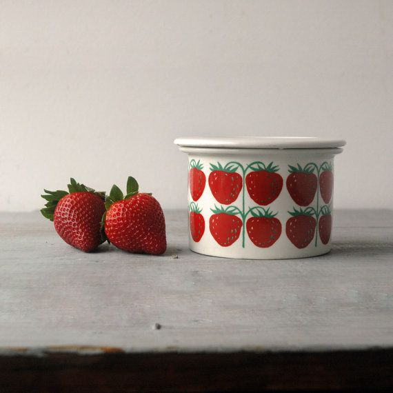 Arabia Strawberry Jam Pot by SwitchbladeandCookie on Etsy, $65.00