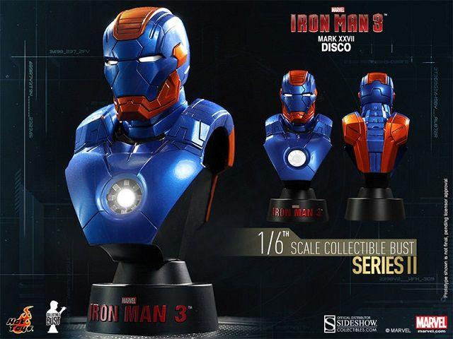 Pré-Encomenda:  Iron Man 3 Bust 1/6 Series 2 Iron Man Mark XVII Disco 11 cm  Para mais informações clica no seguinte link: http://buff.ly/1orwaCh  #ToyArt #HotToys #Marvel #IronMan