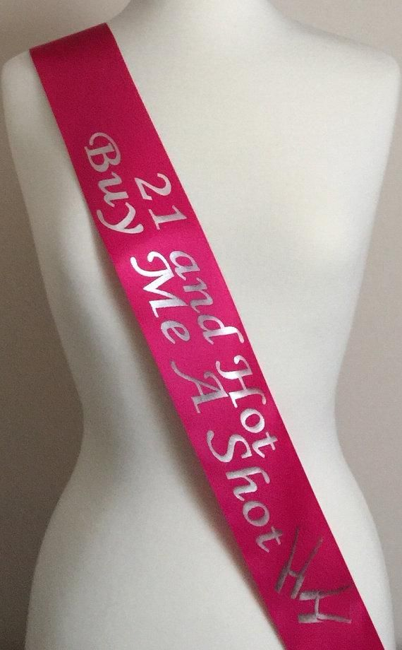 ROSE GOLD 30 /& HOT BUY ME A SHOT Birthday Sash New Party 30th Age Gift Sashes