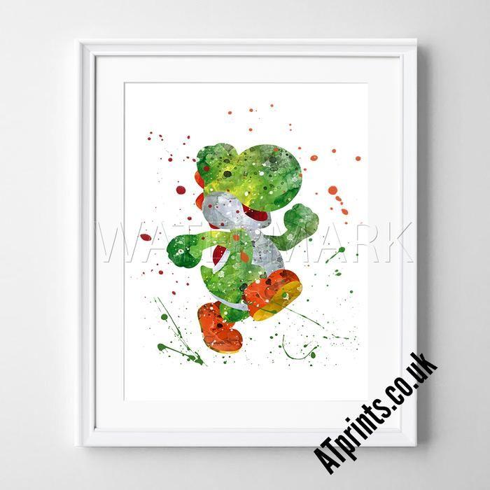 CRASH BANDICOOT Print Poster Watercolour Framed Canvas Wall Art Gift Idea Print