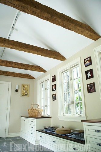 17 best images about kitchen ceilings on pinterest for Wood beam ceiling kitchen