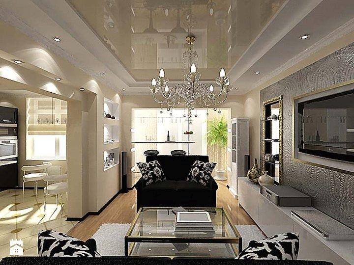 sufit napinany w salonie - Szukaj w Google