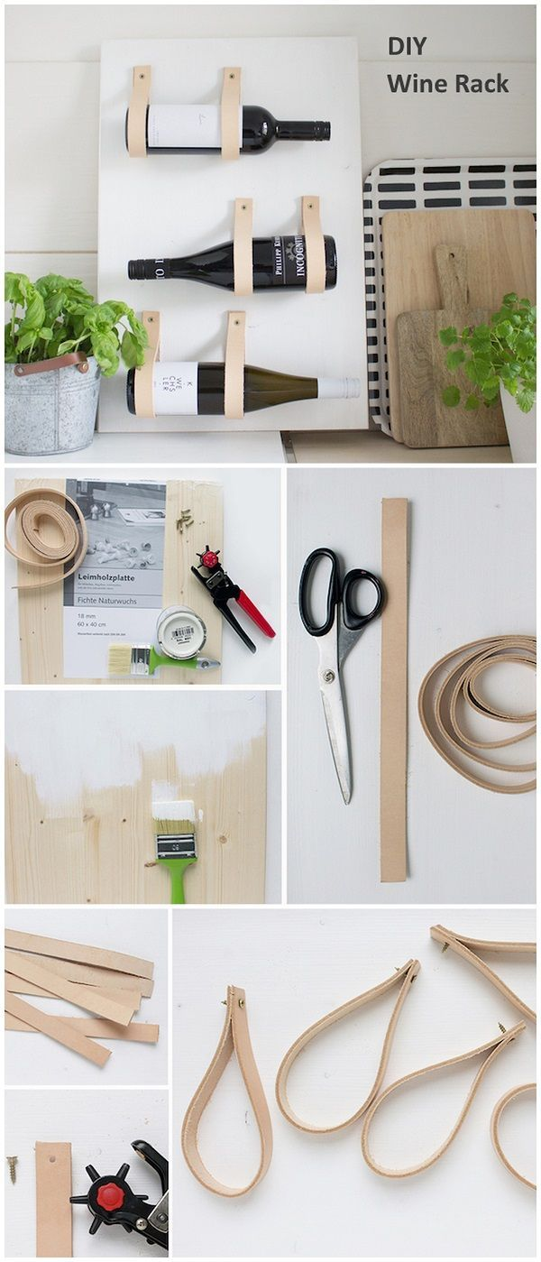 Check out this easy idea on how to make a #DIY minimalist wine rack #scandinavian style #homedecor #crafts #projects @istandarddesign