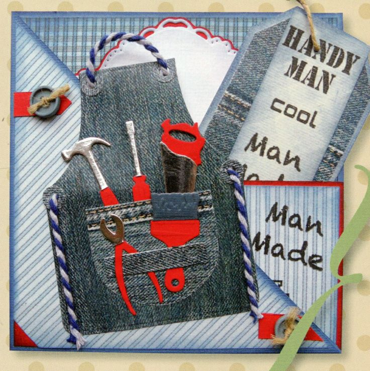 A men's card (Marianne Design)