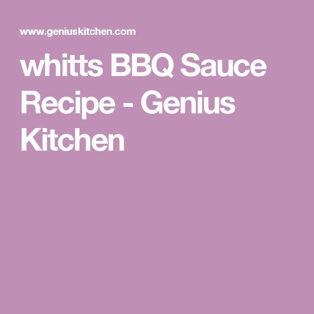whitts BBQ Sauce Recipe - Genius Kitchen