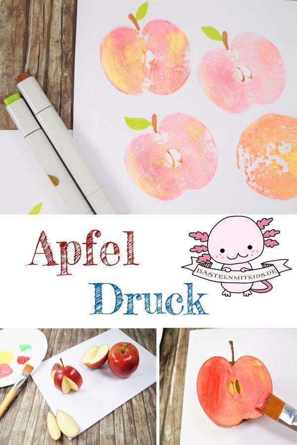 Apfel Basteln Mit Papierteller Und Apfelkerngehäuse Basteln Mit