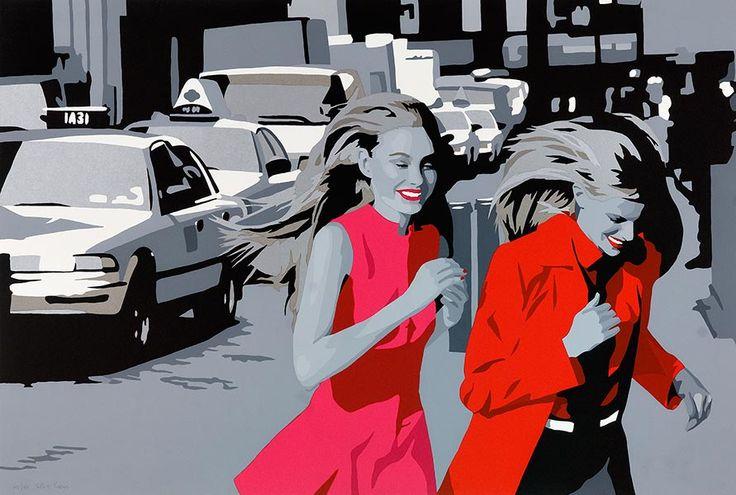 Silvia Papas,Conegliano, provincia de Treviso (Véneto), 1969. Tras finalizar sus estudios en el Liceo Artístico de Padua, donde actualmente reside, a finales de los ochenta la artista comienza su andadura profesional en el campo de la escenografía, cartelería y moda.Desde sus primeros trabajos, sus lienzos cada vez más coloridos, retratan figuras femeninas seductoras que juegan un papel de liderazgo como testigos de una modernidad en la que nos vemos envueltos.