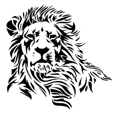 lion decal design
