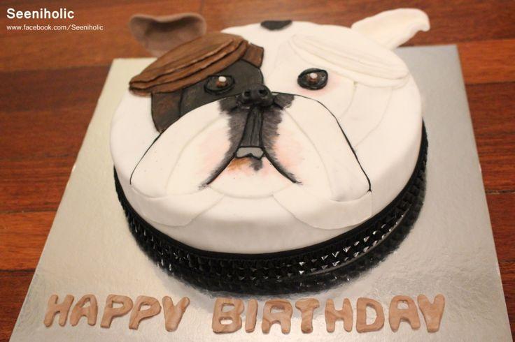 Bulldog birthday cake