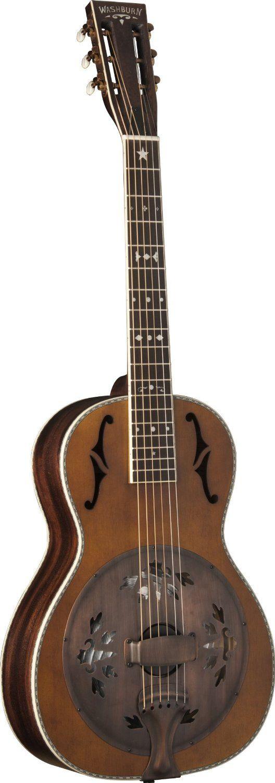 Washburn R360K Parlour Sized Resonator Guitar Amazoncouk Musical Instruments