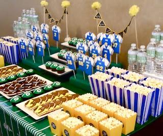 Football cookie table