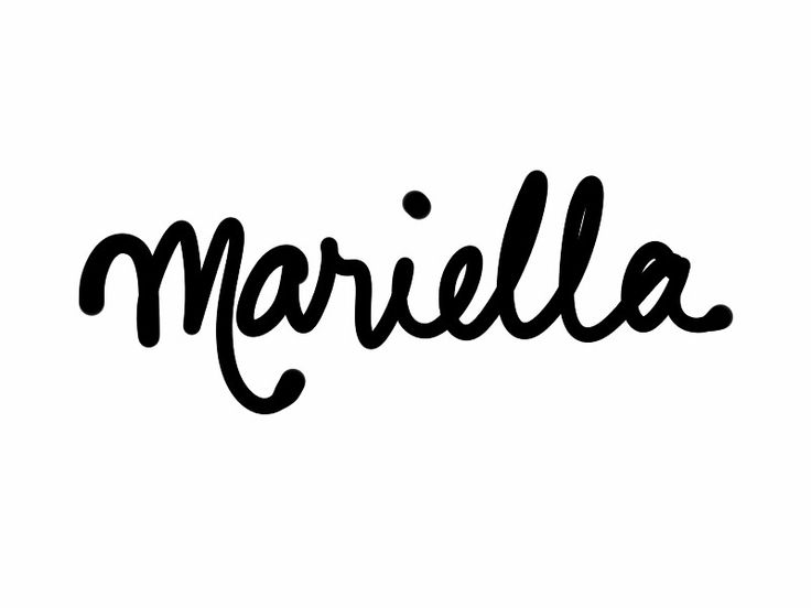 "Mariella. Italian. Said ""Mah-RYEHL-lah."" if you're stuck for a baby name for your little girl, listen to Kate Nash's pop folk song ""Mariella"" and you may choose this one! ""Mariella, Mariella, my pretty baby girl. Mariella, Mariella, happy in your own little world."" This Italian diminutive of Maria is very sweet."