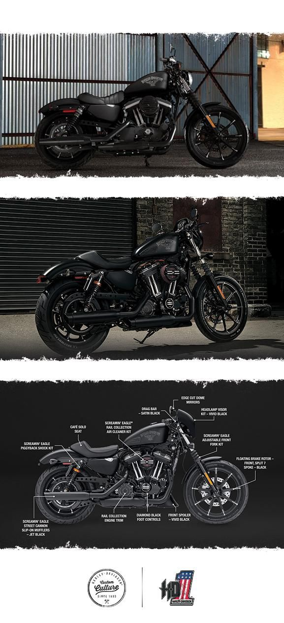 Stripped back and off the rails. | 2017 Harley-Davidson Iron 883