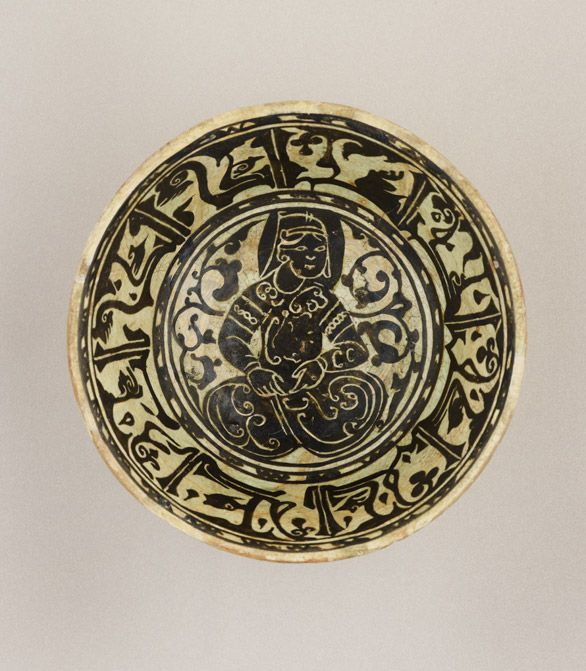 Bowl 12th century or later Earthenware H: 8.3 W: 17.2 cm Iran?