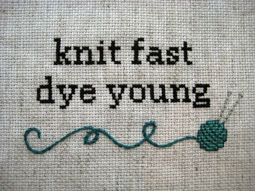 knit fast dye young: Fast Dyes, Friends, Knits Fast, Dyes Young, Colors, Crosses Stitches, Fast Knitter, Comment, Crafts