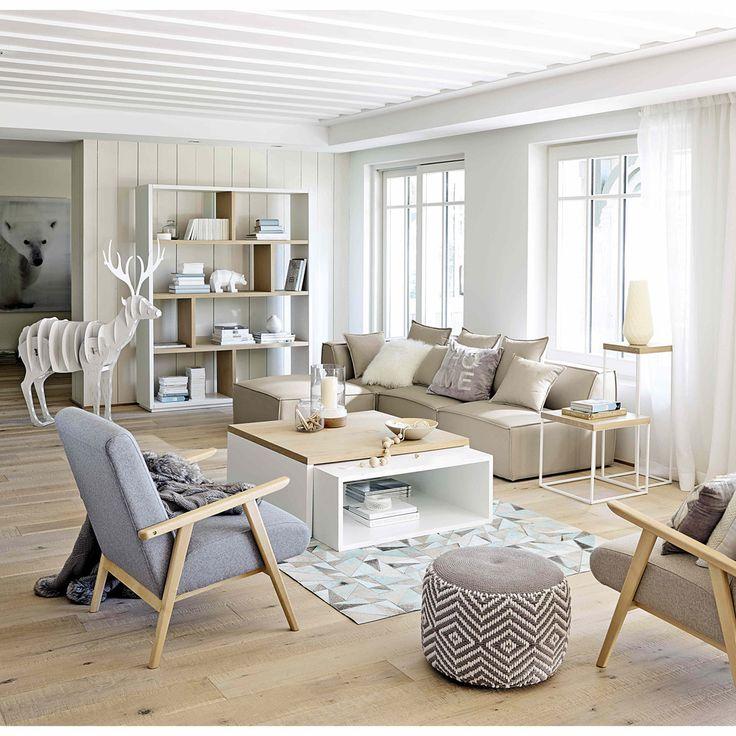 Fauteuil met grijze bekleding Benson | Maisons du Monde