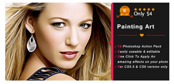 About Actions Just install and hit play action for awesome Oily Photography effect. This action will support in all photoshop versions (CS3, CS4, CS5, CS6, CC, CC14, CC15, CC16, CC17 & Upper ). Y...