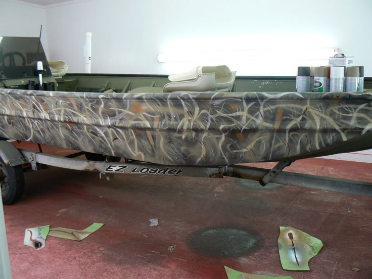aluminum boat camo paint jobs - Google Search