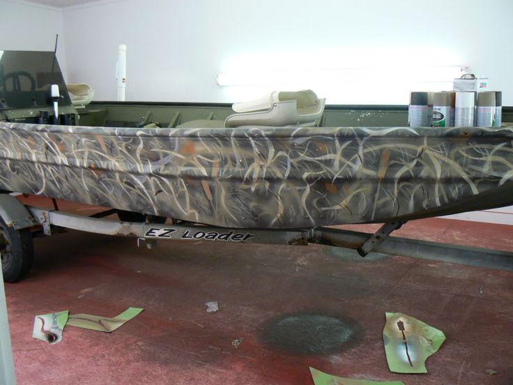 aluminum boat camo paint jobs - Google Search
