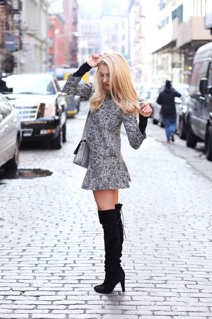 17 Best images about Knee High Boots - Blogger Style on Pinterest | Leather jackets Knee high ...