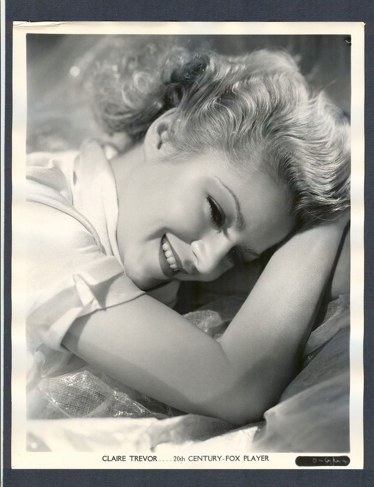 Sexy Blonde Claire Trevor Great Near Mint Cond Portrait | eBay