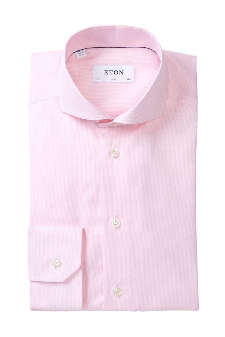 Houndstooth Extra-Slim Fit Dress Shirt