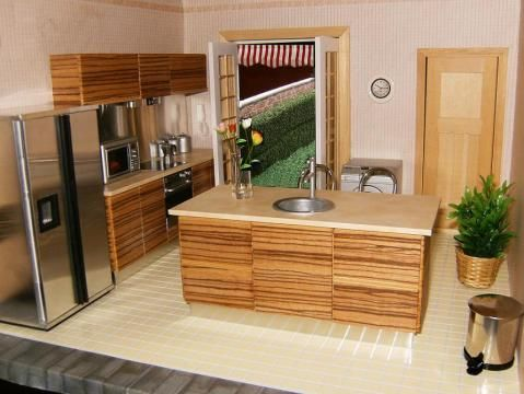 new work modern furniture in dollhouse miniature scale by cdhm artisan elizabeth lepla of elf miniatures who designs and makes high q