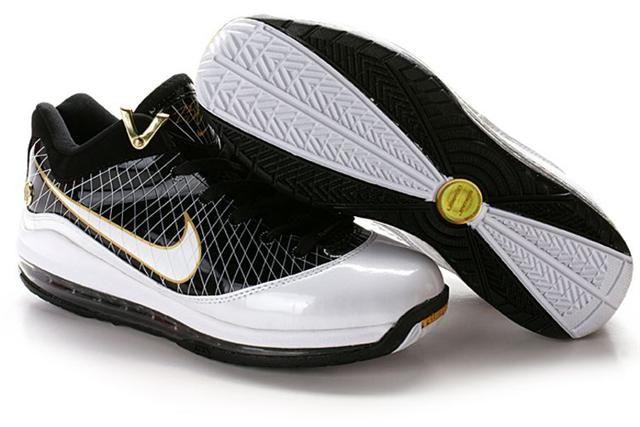 http://www.airfoamposite.com/nike-lebron-7-black-white-gold-p-321.html Only$85.90 #NIKE #LEBRON 7 BLACK WHITE GOLD #Free #Shipping!