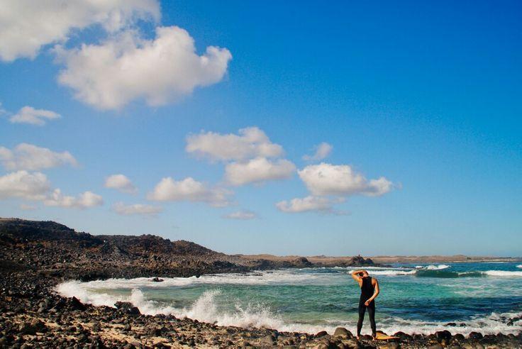 Surf en la costa norte de #fuerteventura, otoño... Surftime in autumn