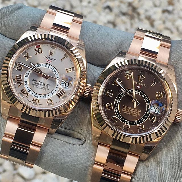SKY-DWELLER evergold Which color would you pick  Happy day to all .... R... | http://ift.tt/2cBdL3X shares Rolex Watches collection #Get #men #rolex #watches #fashion