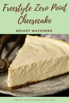 Weight Watchers Freestyle Zero Point Cheesecake