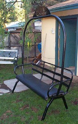 How To Make A Porch Swing Out Of A Ski Lift Chair   Google Search