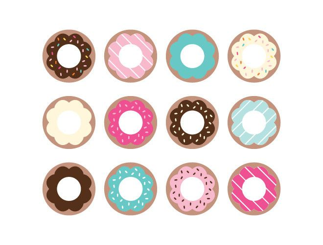 a dozen donuts for your walls | reusable donut wall stickers | donut decor | party decor | kid safe | weeDECOR