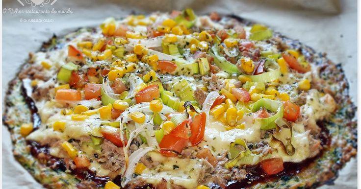 O melhor restaurante do mundo é a nossa Casa: Pizza de Abobrinha super deliciosa e fácil de preparar