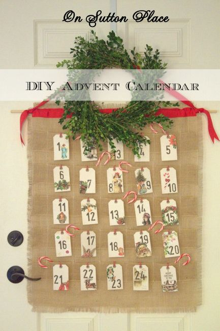 DIY Advent Calendar from On Sutton Place