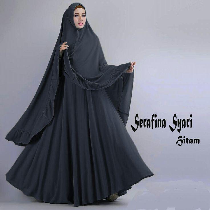 Gamis Syar'i Modern SERAFINA HITAM - http://warongmuslim.com/gamis-syari-modern-serafina-hitam/