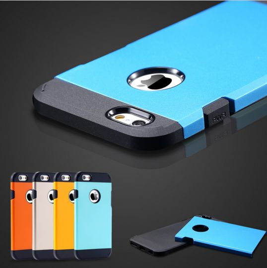 iPhone 6/6S Case Luxury Ultra Thin 2 In 1 Armor Shell TPU+PC Hard Back Protective Case