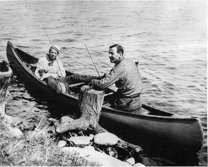 Arthur Lismer and Tom Thomson, Smoke Lake, Algonquin Park (1914). Source: McMichael Canadian Art Collection Archives