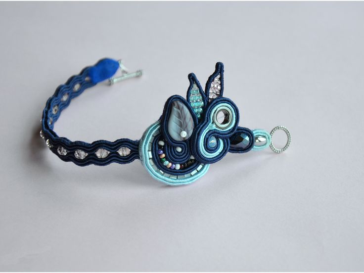 Handmade soutache bracelet www.facebook.com/barbarasoutache