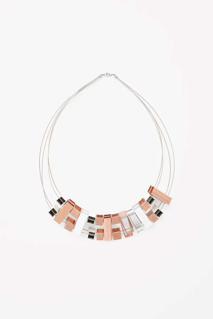 Stacked cube necklace