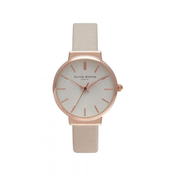 Womens **Olivia Burton The Hackney Nude and Rose Gold Watch - Nude, Nude