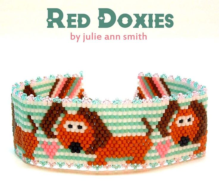 RED DOXIES Beaded Bracelet Pattern | Bead-Patterns.com