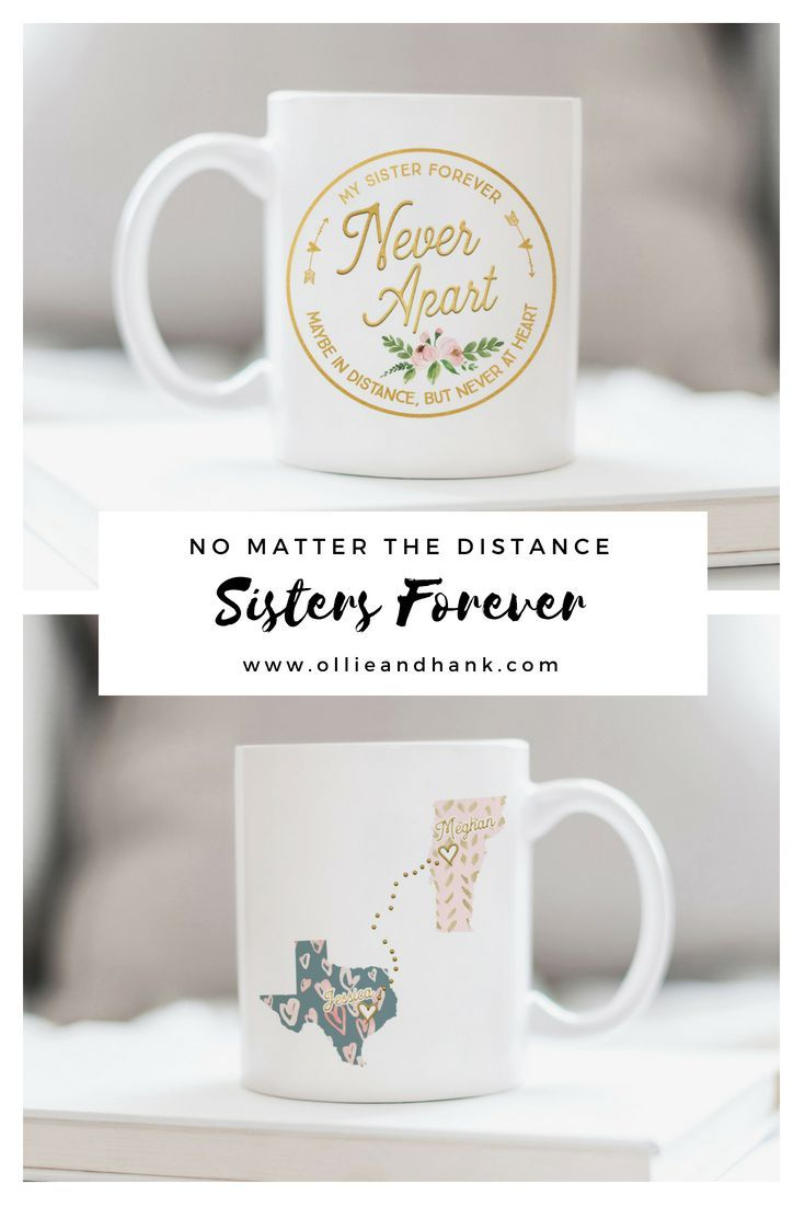 This Personalized Sister Long Distance Mug Is A Heartfelt Birthday Gift Christmas For Or Moving Away